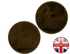 A pair of British Bronze 1863 VICTORIA PENNY Coins               (Ref:1863_51/2)