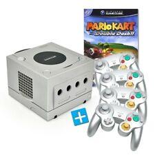 Nintendo GameCube - console #silver + Mario Kart + 4 gamepads + equipment