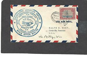 #C11 FIRST FLIGHT CHICAGO,ILL MAR 8-1930 CAM 9