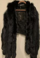 GORSKI FOX Fur Shawl Lace OS Black Neiman Marcus $2k NEW Layered Finland Fox
