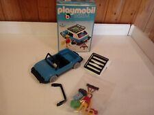 Playmobil Reise PKW / Blaues Auto von 1977 mit Original Karton