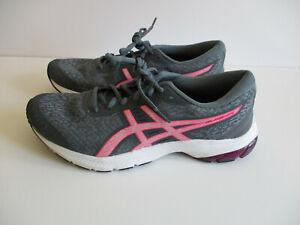 Ascis Size 10 Women Gel Kumo Lyte Grey Pink Sneakers Shoes