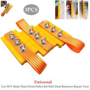 3PCS Auto Car SUV Body Panel Dent Puller Kit Hail Dent Remover Repair Tool Set