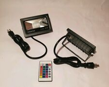 Ustellar 2 Pack 15W RGB LED Flood Lights, Outdoor Color Changing Floodlight with