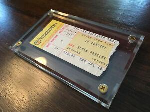 Authentic 1975 Elvis Presley concert ticket stub in holder with Certificate