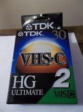 2 VHSC TAPES/TDK 30 HG ULTIMATE, new/sealed