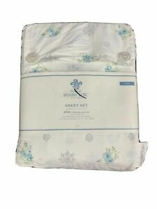 Simply Shabby Chic Full Sheet Set Fleur Blue Medallion Rachel Ashwell