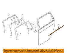 BMW OEM 09-10 535i xDrive Rear-Window Sweep Belt Felt Molding Right 51227115422