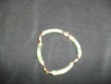 Beautiful  Vintage  Green  Jade  Bracelet  Lot # DB.