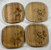 Disney Parks Mickey Mouse Coasters Set of 4 Drink Bamboo Authentic Original