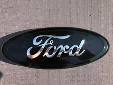 "Ford Front Grille/ Tailgate Set (2 emblems) 9"" Oval Black Emblems"