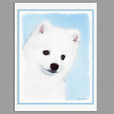 6 American Eskimo Dog Blank Art Note Greeting Cards