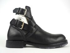 Womens Diesel Black Leather Cut Out Buckle Casual Boots UK 6.5 EU 40