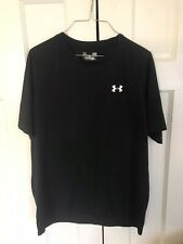 Men's Under Armour Heat Gear Loose Fit Athletic Shirt Black Size Large