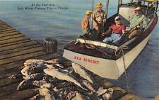 SEA BISCUIT SHIP SALT WATER FISHING TRIP IN FLORIDA POSTCARD (c. 1940s)