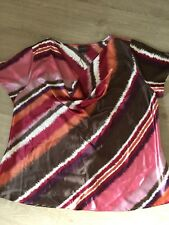 Ann Harvey Top.Size 22. Immaculate.Silky.Cowl Neck.Colourful.