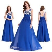 Grace Karin Formal Bridesmaid Wedding Dress Party Evening Cocktail Ballgown Blue