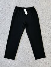NWT! CAROLINE ROSE Plus Size 1X Black Straight Leg Pull-On Jersey Pants Women's