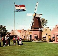 Windmill design on Dutch Market Place village Holland Michigan Vintage Postcard