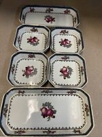 Lot 6 Vintage Booths Desert Set Plates(4) & Serving Trays(2) England Fruits Rare