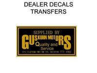 Gus Kuhn Motors Motorcycle Dealer Decal Transfer Sticker DQ28 Gold Brixton