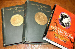 Personal Memoirs ULYSSES S. Grant 1885 1st Ed Rare Cowhide (w/Julia D.Grant Bio)