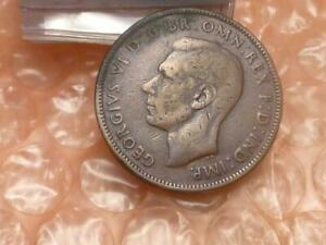 Rare George VI Double Headed Half Penny Coin Scarce #2B