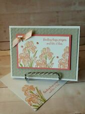 Stampin up INSPIRING IRIS WISHES- Handcrafted-  Card Kit-Set of 4