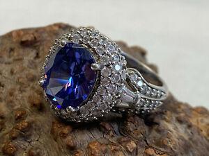 Big Bold Pretty! Sterling Silver Blue Amethyst Ring