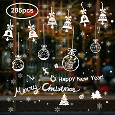 Christmas House Winter Window Stickers Silver/& Blue Snowflakes And Words 20 ct