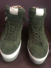 Womens Shoes Green Suede UK 6 Crepe Style SOYA FISH (B35)