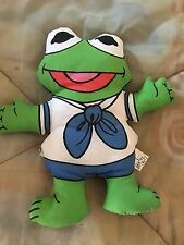 "Baby Kermit the Frog sailor 1988 Ragdoll cloth doll plush 6.5"" B40"