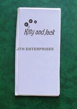 Scorecard Holder Kitty & Jack Hard Cover Lawn Bowls score card keeper protector