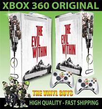 Xbox 360 pegatina el mal en horror 001 supervivencia de la piel y 2 Pad Skins