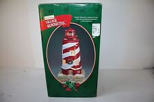 "RARE 1999 Mr Christmas ""Village Silhouettes""  Lighthouse w/Revolving Scenes EUC"