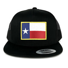 FLEXFIT 5 Panel Texas State Flag Embroidered Iron Patch Snapback Mesh Back Cap