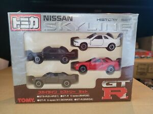 TOMICA - NISSAN SKYLINE  HISTORY GIFT SET CARS MINT BOX GREAT VHTF SEALED CHINA