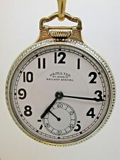 HAMILTON RAILWAY SPECIAL POCKET WATCH 950B 23 JEWEL CASE MODEL #2 TWO TONE 10B