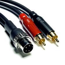 """5M """" 4pin-din ad RCA"""" GOTHAM gac-1 HI-FI di interconnessione per Naim"""