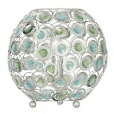 Moderno cristallo verde e blu e metallo Lampada da tavolo Globo
