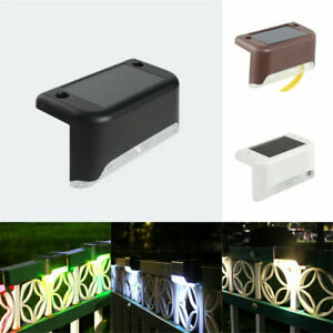 Solar LED Deck Lights Outdoor Path Garden Pathway Stairs Step Fence Lamp Decor