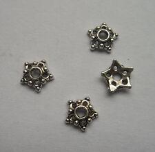 50pcs beautiful Tibet silver Flower End Beads Caps 2.55x8mm