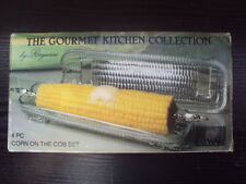 VINTAGE RAYWARE CORN ON THE COB GLASS DISHES VGC FREE UK POST