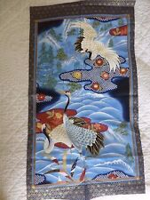 Tessuto Giapponese Gru Cotton Craft Quilting Oriental birds KONA Bay No.2