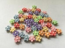 Mini flor de color arcilla granos (paquete de 50)