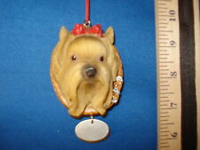 Yorkie Ornament Head with Name tag 96112 81