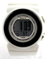 CASIO BGD106-7 BABY-G DIGITAL DIAL White SPORT WATCH White Resin Band