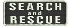 Search and Rescue embroidery patch 2x5 with hook on back white