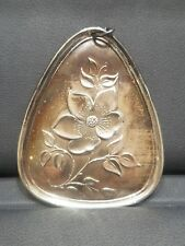 Sterling Silver Christmas Ornament Medallion Towle Vintage 1973