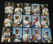 1984 - MONTREAL EXPOS - MLB - BASEBALL PLAYERS - POSTCARDS (15) - ORIGINAL